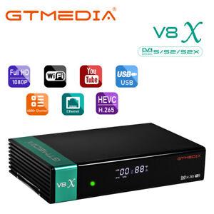 DVB-S/S2 HD Satellite Receiver H.265 GTMEDIA V8X Digital Converter Decoder Box
