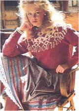 Ladies' DK Fringed Fair Isle Yoke Sweater Vintage Knitting Pattern Instructions
