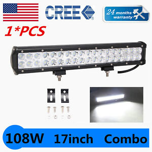 "17inch 108W LED Light Bar Combo Flood Spot Offroad Driving 4WD Truck ATV VS 18"""