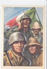 Guerre 39-45 WW2 ITALIE propagande fasciste  Armée italienne coloniaux
