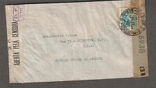 July 1944 WWII Brazil DF 270 & US 5938 NY censor cover Rio de Janiero to NY