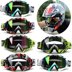 Motocross Goggles Motocross-Brille Helm Motorrad ATV Off Road MTB Winddichte DE