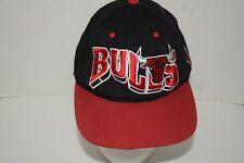 Vintage CHICAGO BULLS Black & Red Snapback Hat Cap