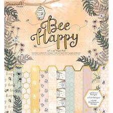 Dovecraft Premium Abeja feliz colección de arte de papel-sentimiento Toppers 6 un.