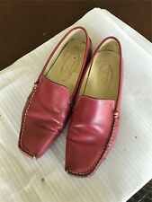 Auth. Tod's Women Leather Hot Pink Flats euro 35 us6 us6.5