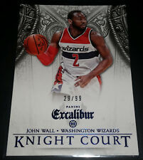 John Wall 2014-15 Panini Excalibur KNIGHT COURT BLUE Parallel Card (#'d 29/99)