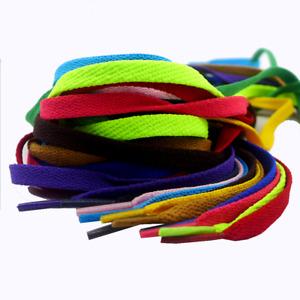 Flachsenkel Flache Schnürsenkel Schuhbänder Polyester Schuhe Senkel 100cm -160cm