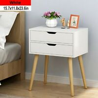 2-Drawer Nightstand Bed Side Lamp Table Sofa End Morden Wooden Bedroom Furniture