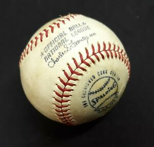 VINTAGE ESTATE FIND 1973? SPALDING OFFICIAL BALL NAT'L LEAGUE FEENEY (USED)