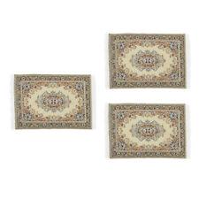 3 lot 1:12 Scale Mini Style Flooring Rug Carpet Mat Dollhouse Furniture