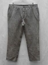B0 NWT JOHN VARVATOS Grey Hemp & Wool Blend Flat Front Casual Pants Size EU 54