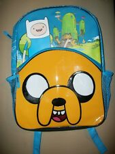 New--Adventure Time/Jake the Dog/Cartoon Network blue/black canvas backpack! *