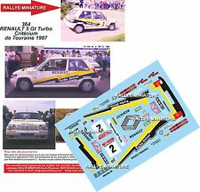 DECALS 1/18 REF 364 RENAULT 5 GT TURBO BUGALSKI RALLYE DE TOURAINE 1987 RALLY