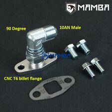 90 Deg 10AN Turbo Oil Return Drain Flange Kit For Precision GEN2 Pro Mod 91
