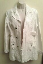 Women's Diesel Military Coat Cotton/Rayon Ivory Shimmer Slightly Used Size M