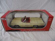 1963 Ford Thunderbird Convertible Diecast Car Anson 1:18 White - In Box