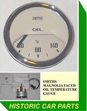 "SMITHS OIL TEMPERATURE GAUGE - 50-140 Centigrade MAGNOLIA FACE - ""OIL Temp"""