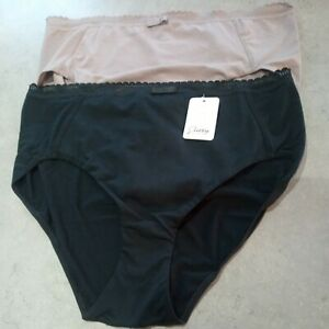 Size 16 Black Taupe Knickers New by pretty secrets