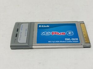 D-Link AirPlus G 2.4GHz Wireless Cardbus Adapter DWL-G630