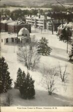 Hanover NH From Tower in Winter c1910 Postcard