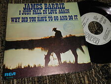 "JAMES BARRIE I just fall in love again/Why did you have to...7"" 1979 spain PROMO"
