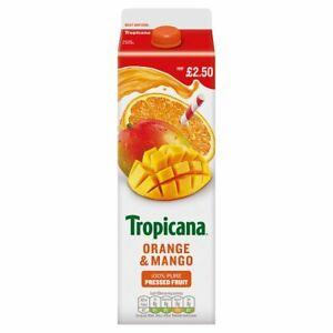 Tropicana Orange & Mango Juice 850ml Price Marked £2.50 x 6 Cafe Takeaway