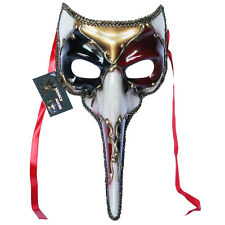 Red Venetian Long Nose Mask Masquerade Ball Prom Mardi Gras Halloween 11E1A
