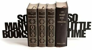 Balvi Barcelona - So Many! book ends,  Decorative Metal Bookend Set NEW! FAST!