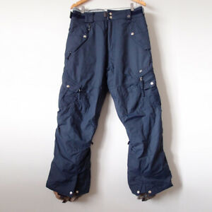 686 Mens Navy Snow Ski Snowboarding 3-in-1 Cargo Pants Detachable Size Small