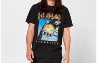 Mens size XL  Black DEF LEPPARD print  t-shirt tee NEW distressed ripped edges
