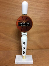 Miller Genuine Draft MGD Beer Tap Handle Solid Wood NEW NOS & Free Shipn. 12""