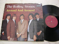 The Rolling Stones around and around * German burdeos oro Decca blk16315-P *