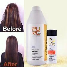 PURE 12% Formalin Brazilian KeratinTreatment and 100ml Deep Cleanning Shampoo