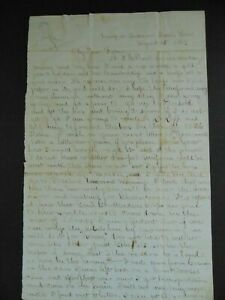 ANTIQUE CIVIL WAR SOLDIER LETTER - ANDERSON STATION TENNESSEE - 38 INDIANA VOLS.