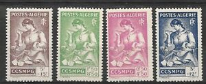 Algeria 194 - Mother & Child - 4v , Scott# B39/42 , Yvert# 205/8 - MNH **