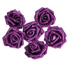 7pc Glitter Flower Foam Rose Heads Sparkling Flower For Wedding Party Decoration