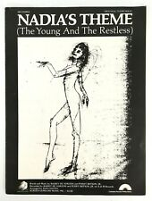 Nadia's Theme The Young & The Restless Sheet Music Original Piano Solo 1973
