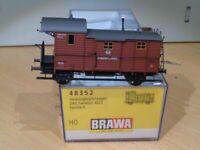 Brawa 48352 H0 Güterzugbegleitwagen Pg Frankfurt KPEV Epoche 1,Top Modell in OVP