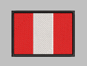 Peru Flag Patch Iron On Sew On Hook Applique Satisfaction Guaranteed