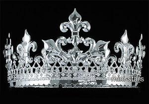 "Men's Imperial Medieval Fleur De Lis 3.5"" Full Circle King Crown AT1714"