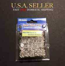 (C9) 100 pcs CLEAR Push Pins Transparent for Drawing Cork Board, Notes, Maps NEW