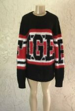 $250 NEW Hilfiger Collection  Tonny Mohair Sweater WOMENS Size M Black Red White