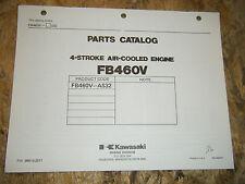 KAWASAKI 4 STROKE AIR COOLED ENGINE FACTORY PARTS CATALOG FB460V-AS32 MANUAL