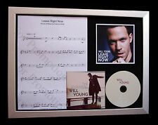WILL YOUNG Leave Right Now LTD TOP QUALITY CD FRAMED DISPLAY+FAST GLOBAL SHIP