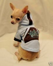 Dog Hoodie/Dog Clothes/Blue Royalty BLING Dog Hoodie/XS,S,M,L FREE SHIPPING