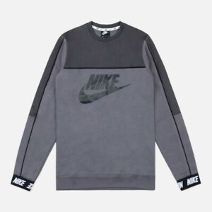 Nike Sportswear Hybrid Mens Fleece Crew Sweatshirts Jumper Track Tops Small
