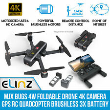 MJX Bugs 4W Foldable Drone 4K Camera GPS RC Quadcopter Brushless 3x Battery B4W