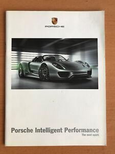 Porsche Intelligent Performance brochure 2010 2011 918 cayenne 911 GT3