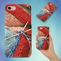 THREAD WOOL COTTON TEXTILE HARD BACK CASE FOR APPLE IPHONE PHONE