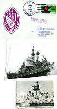 USS CHIGACO CRUISER CG 11 NAVAL CACHED COVER & 2 MAGAZINE PICTURES